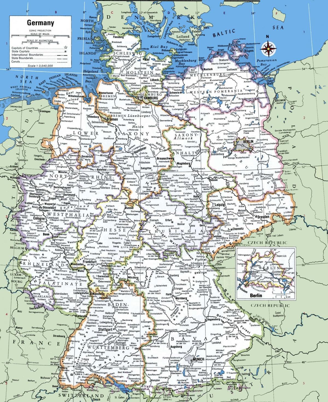 Tyskland Stader Karta Karta 2020